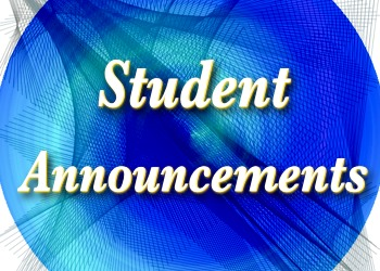 High School Student Announcements